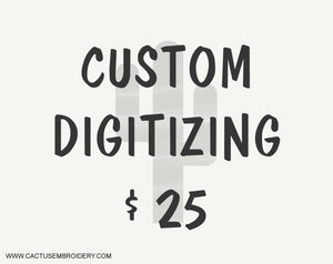 Custom Digitizing, Your logo digitized $25