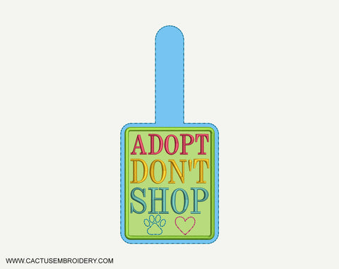 Adopt Don't Shop Snap Tab