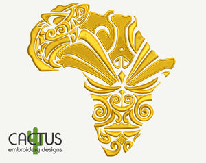 Africa Mask Embroidery Design