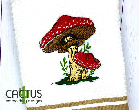 Amanita Mushrooms Embroidery Design
