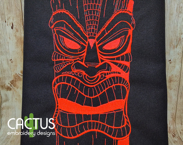 Angry Mask Embroidery Design