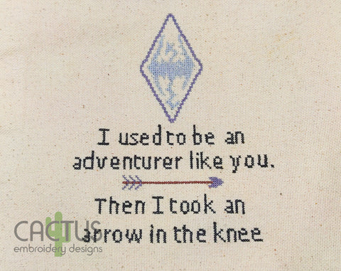 Arrow in the Knee Embroidery Design
