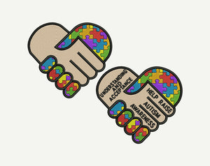 Autism Awarenes Machine Embroidery Design