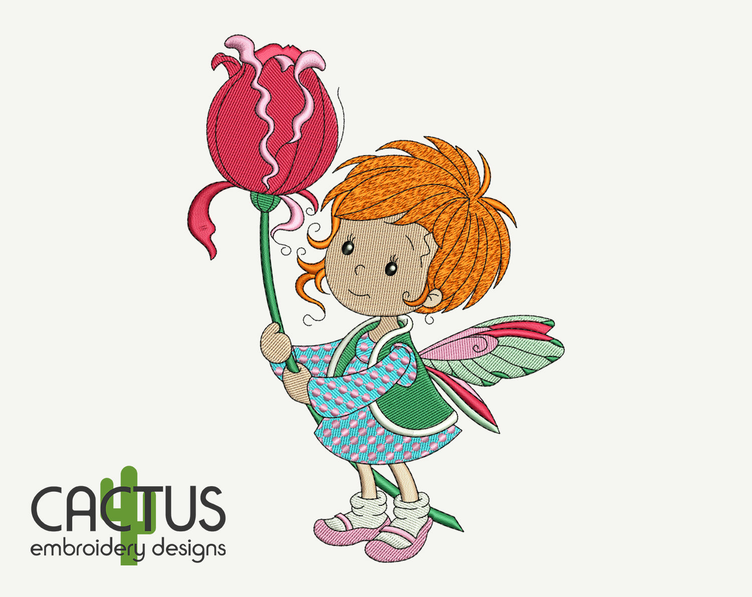 Baby Fairy Embroidery Design