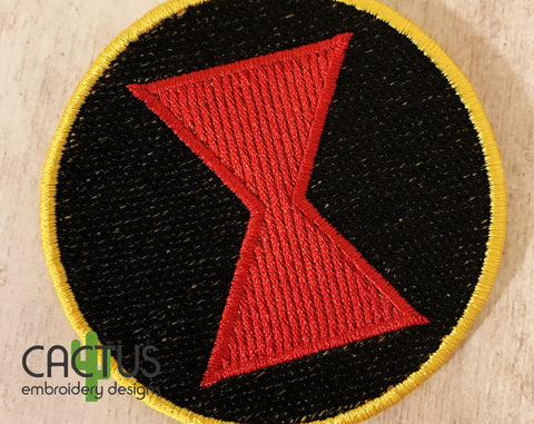 Widow Patch Embroidery Design