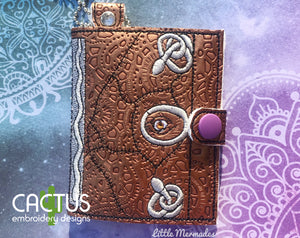 Book of Spells ITH Wallet 3 Variants including Snap and Eyelet Design