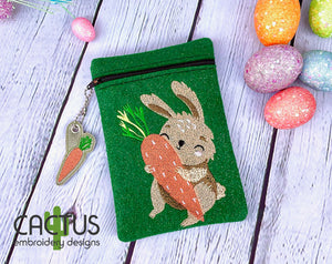 Bunny Set of Zipper Bags, Charm\Zipper Pull & Sanitizer Holder