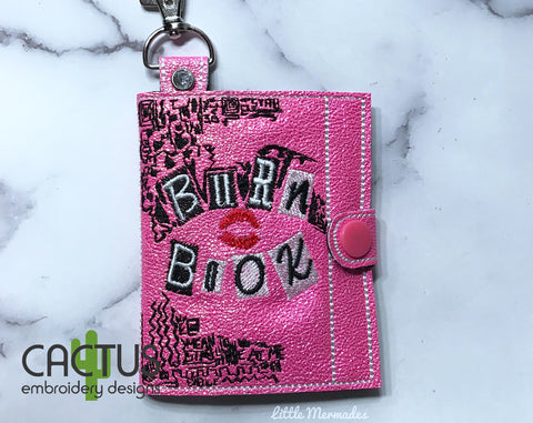 Burn Book ITH Wallet 3 Variants including Snap and Eyelet Design