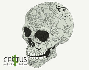 Calavera Sugar Skull Embroidery Design