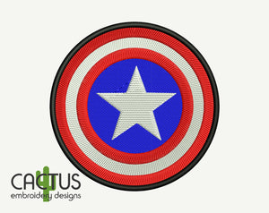 Captain A Embroidery Design