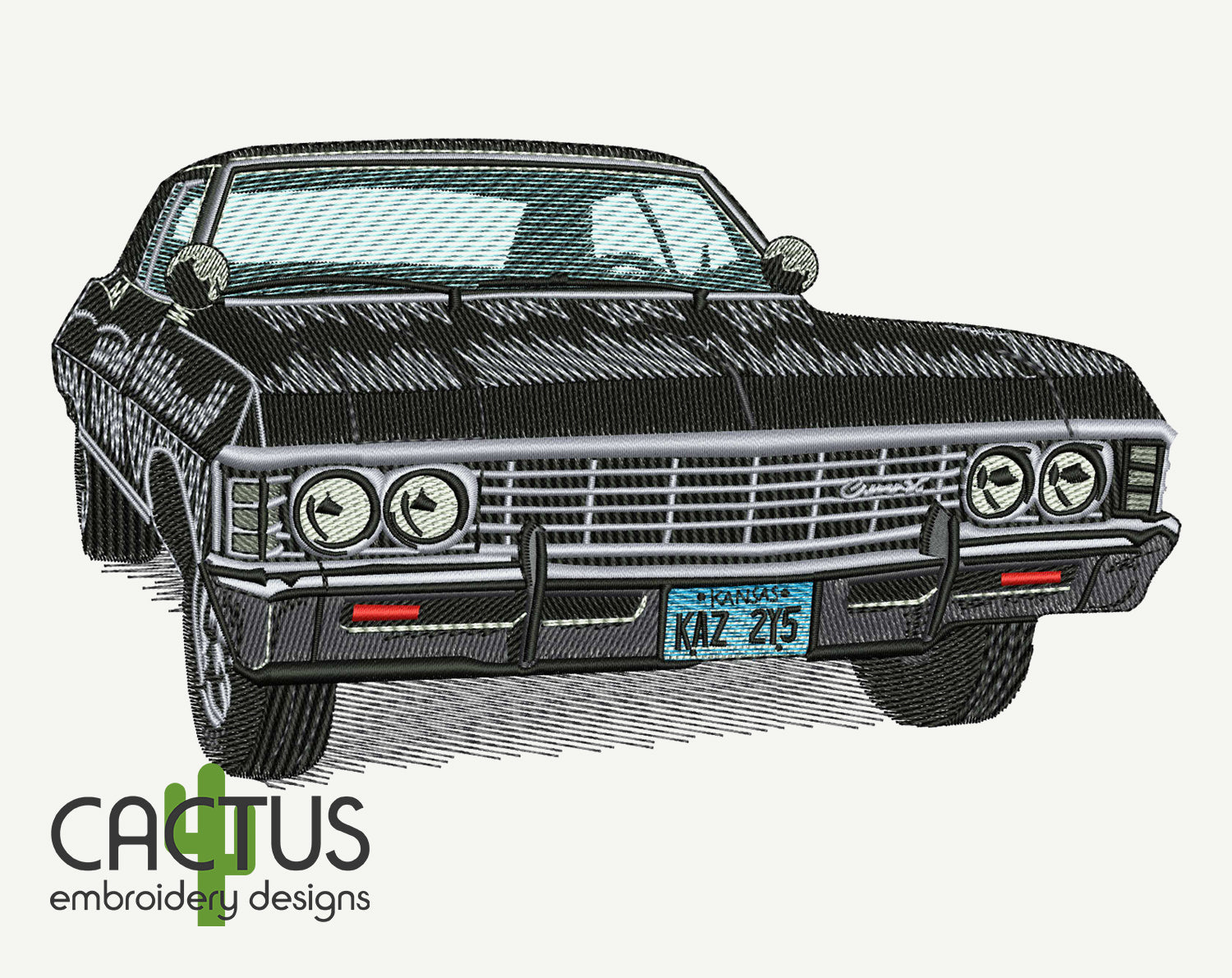 Chevrolet Impala Embroidery Design