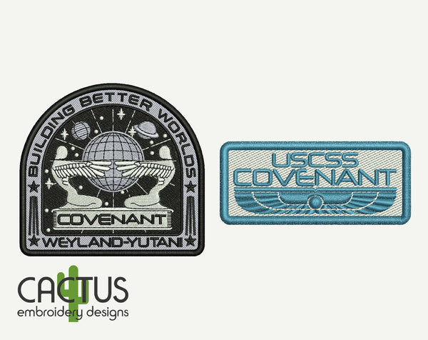 Covenant Patches Embroidery Designs