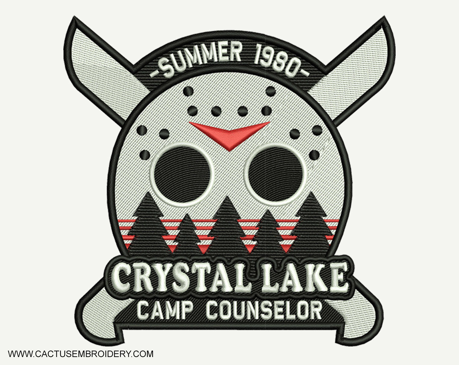 Crystal Lake Machine Embroidery Design