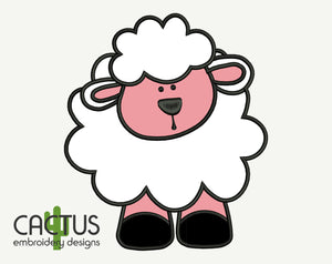 Little Lamb Applique Embroidery Design