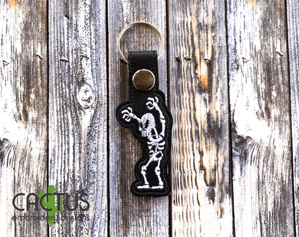 Cute Skeleton Set of Bookmark\Bag Tag, Eyelet Fob, Feltie, Snap Tab