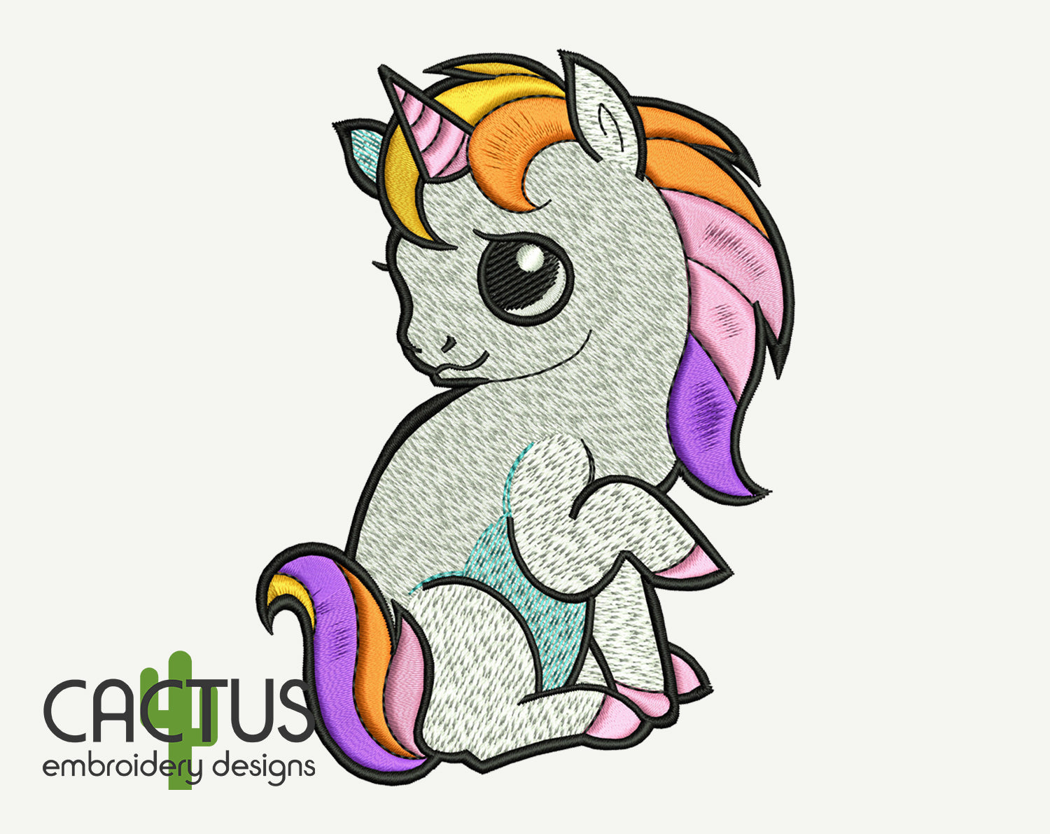 Cute Unicorn Embroidery Design