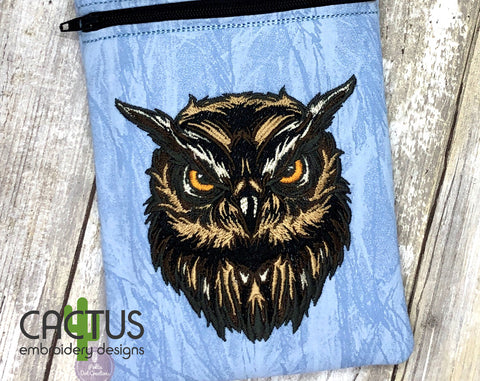 Eagle Owl Patch Embroidery Design