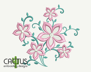 Flower Lace Pattern Embroidery Design