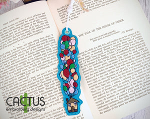 Flying Balloon House Bookmark\Bag Tag