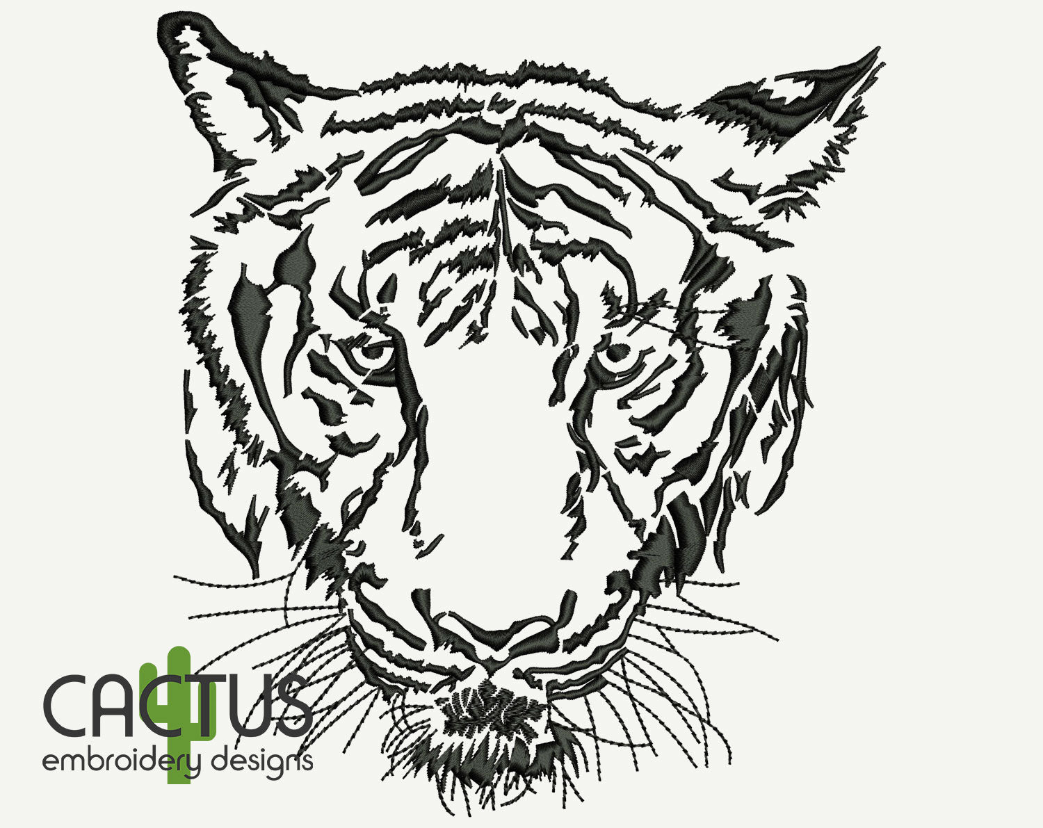Grand Tiger Machine Embroidery Design