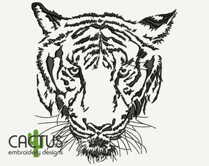 Grand Tiger Embroidery Design