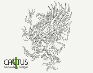 Griffin Embroidery Design