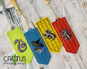 Multi-Colored Bookmarks Set of 4 Designs