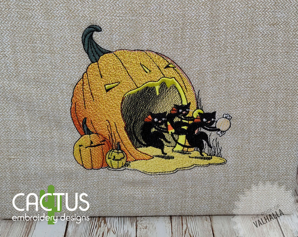 Halloween Cats Embroidery Design