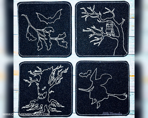 Halloween Coasters Set of 4 Design