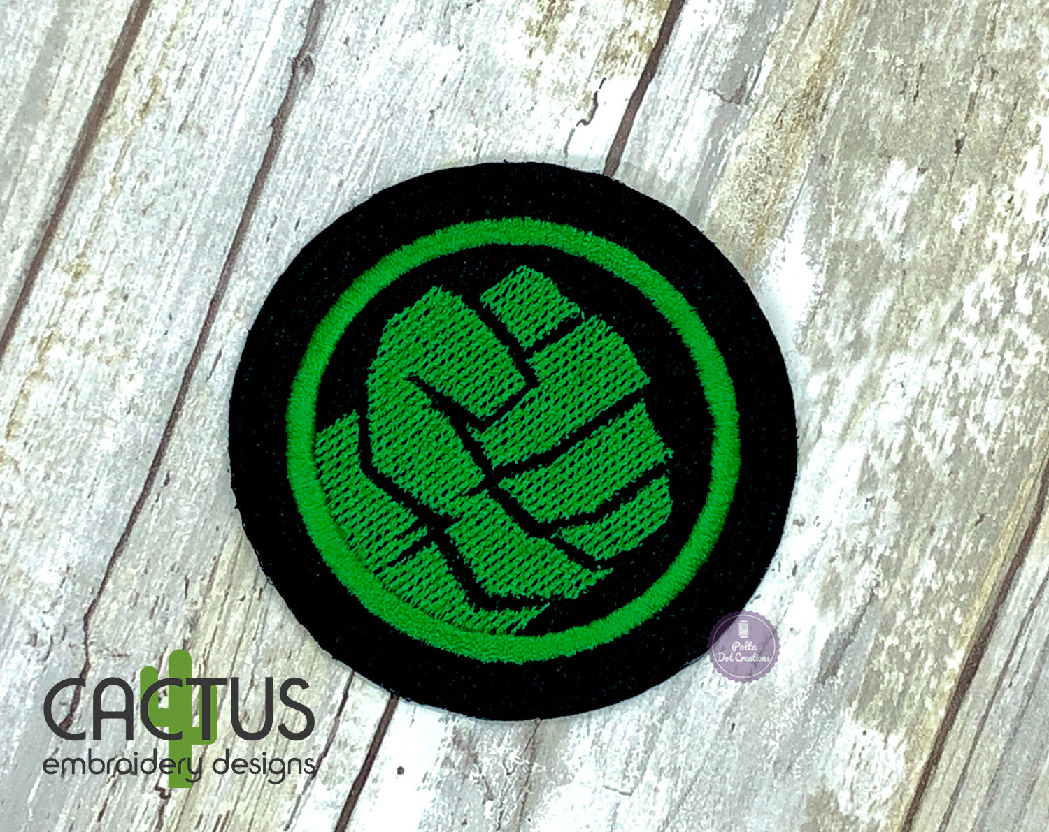 Green Guy Patch Embroidery Design