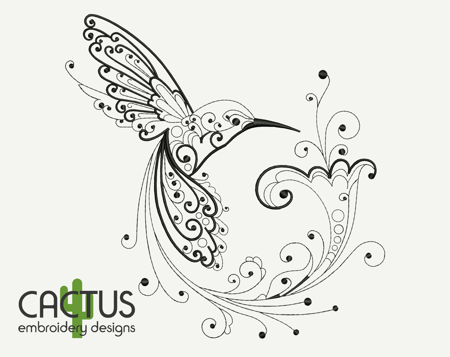 Hummingbird Embroidery Design
