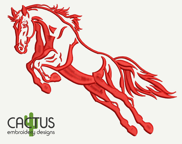 Horses Set of 3 Embroidery Designs