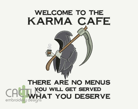 Karma Cafe Machine Embroidery Design