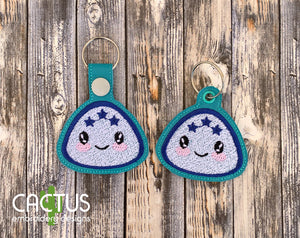 Kawaii Food Set of 5 Eyelet Fobs & Snap Tabs
