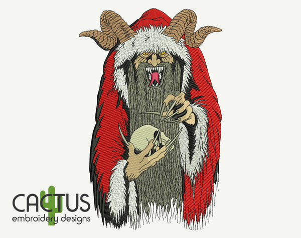Krampus Embroidery Design