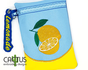 Lemonade Zipper Bag & Eyelet Fob
