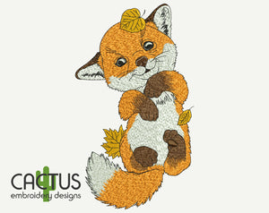 Little Fox Embroidery Design