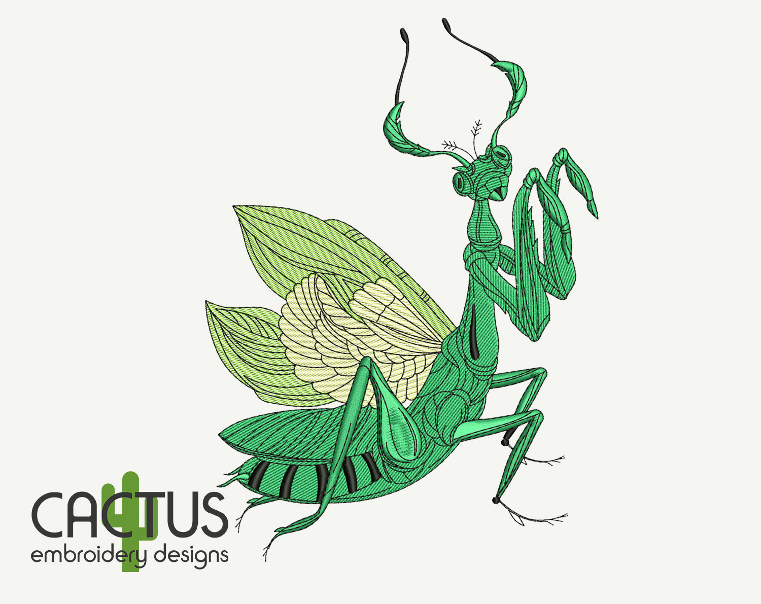 Mantis Embroidery Design