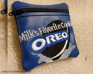 O Cookie Zipper Bag