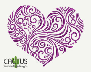 Openwork Heart Embroidery Design