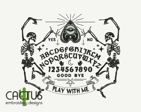 Ouija Board Machine Embroidery Design