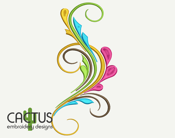 Curls Embroidery Designs