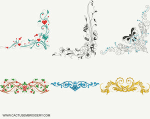 Patterns Set of 12 Embroidery Designs