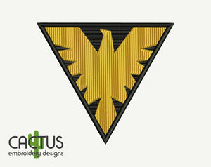 Phoenix Patch Embroidery Design