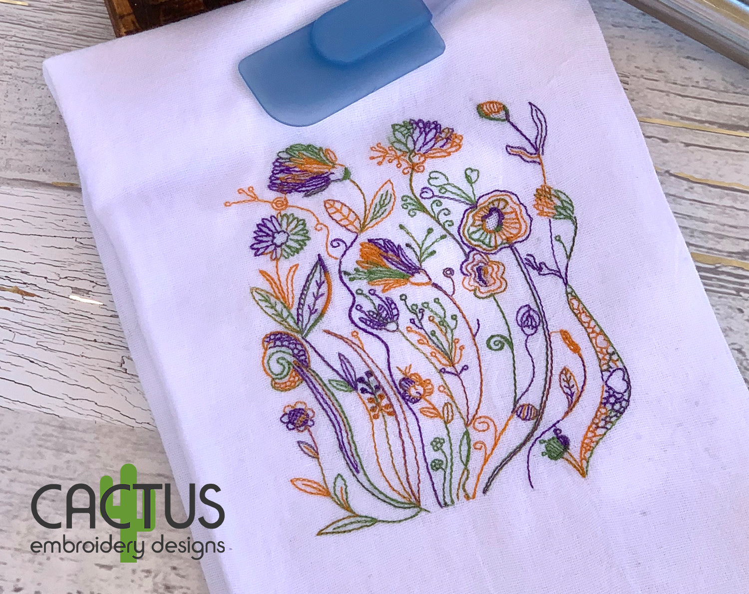 Plant Pattern Embroidery Design