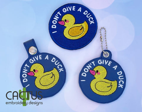 Rubber Duck Set of Patch, Eyelet Fob & Snap Tab