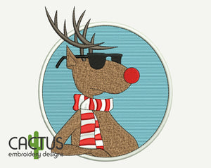 Rudolph Christmas Machine Embroidery Design