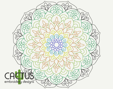 Simple Mandala Embroidery Design