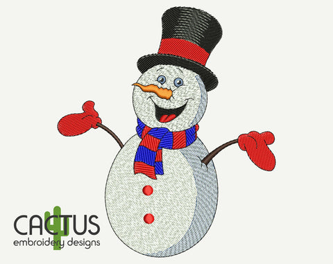 Snowman Christmas Machine Embroidery Design