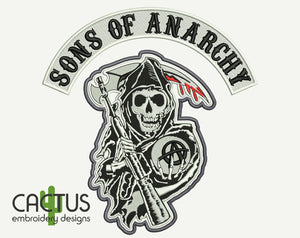 Sons of Anarchy Machine Embroidery Design